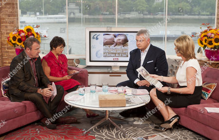 Paul Ross and Jeni Barnett with Eamonn Holmes and Ruth Langsford.
