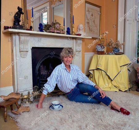 Sue Lloyd at home in London, Britain