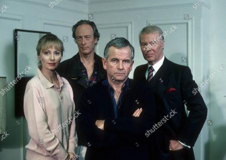 Mel Martin as Fiona Samson, Michael Culver as Dicky Cruyer, Ian Holm as Bernard Samson and Anthony Bate as Bret Renssalaer