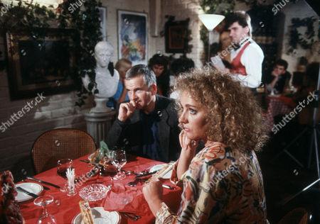 Stock Image of Ian Holm as Bernard Samson and Gail Harrison as Tessa Gozinki