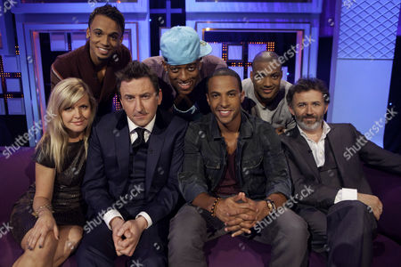 Ashley Jensen, Lee Mack, JLS - Aston Merrygold, Oritse Williams, Jonathan Gill and Marvin Humes and Tommy Tiernan