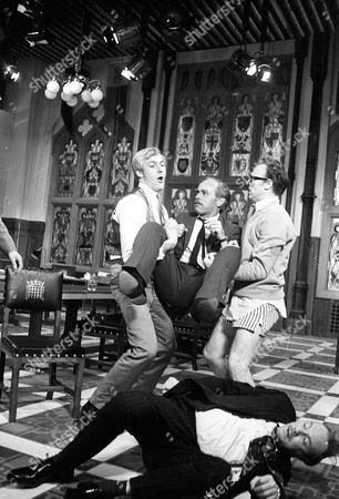 Stock Image of Roddy Maude-Roxby as Norman Haggard, Leonard Trolley as George O'Neill, Emrys Leyshon as Michael Beamish and Glynn Edwards as Arthur Bentwood (on floor)