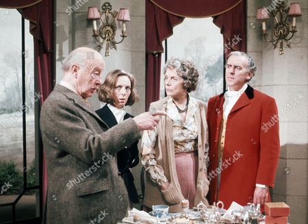 Stock Photo of Roland Culver as General Sir William Boothroyd, Avril Elgar as Maud Boothroyd, Celia Johnson as Lady Sheila Boothroyd and George Cole as Hubert Boothryd MP