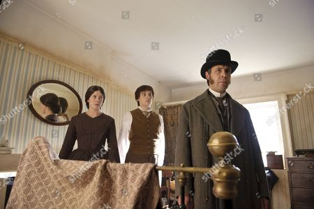 Alexandra Roach as Constance Kent, Charlie Hiett as William Kent and Paddy Considine as Mr Whicher