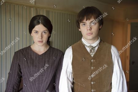Stock Image of Alexandra Roach as Constance Kent and Charlie Hiett as William Kent
