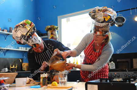 Stephen Jones and Lady Fiona Lansdowne attempt to bake a hat