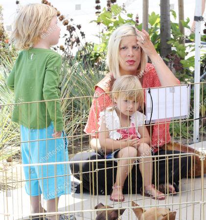 Tori Spelling with children Stella Doreen McDermott and Liam Aaron McDermott