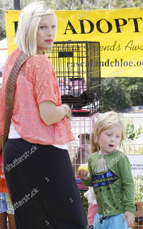 Tori Spelling and son Liam Aaron McDermott