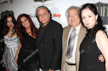 Stock Photo of Tonantzin Esparza, Edward James Olmos, Moctesuma Esparza and Gabriela Tagliavini