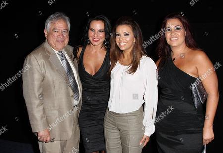 Stock Image of Moctesuma Esparza, Kate Del Castillo and Eva Longoria with Gabriela Tagliavini