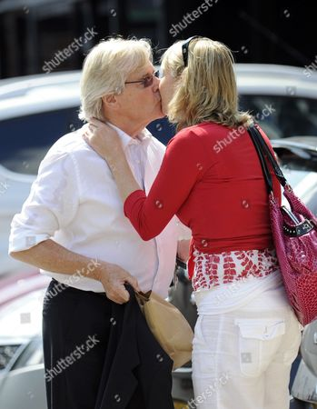 Stock Photo of William Roache and girlfriend Emma Jesson