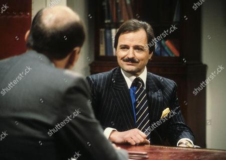 Garfield Morgan as Scrimshaw and Peter Bowles as Howard Booth