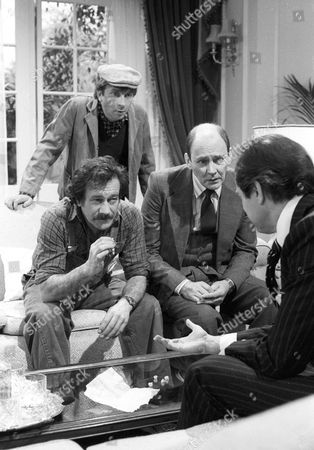 Sam Kelly as Alf, Larry Martyn as Charlie, Garfield Morgan as Scrimshaw and Peter Bowles as Howard Booth