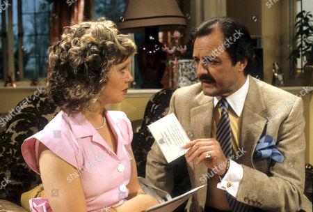 Patricia Brake as Gloria Pert and Peter Bowles as Howard Booth