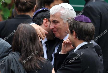 Alex Winehouse and father Mitch Winehouse