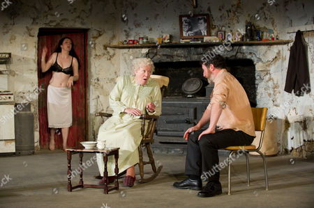'The Beauty Queen of Leenane' - Derbhle Crotty as Maureen Folan , Rosaleen Linehan as Mag Folan and Frank Laverty as Pato Dooley.