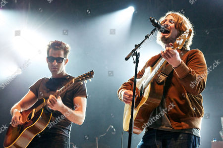 Stock Picture of Mark Ronson and Dave McCabe of The Zutons