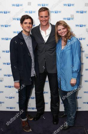 Stock Picture of Mathew Baynton, Darren Boyd and Rebekah Staton