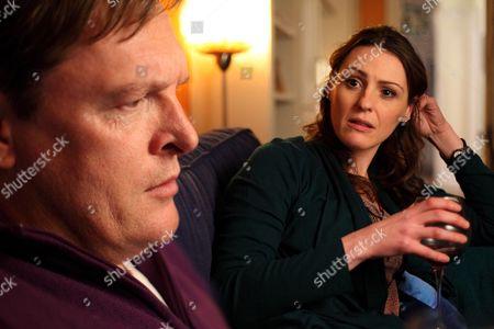 Tony Pitts as Adrian Scott and Suranne Jones as DC Rachel Bailey