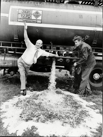 Jim Riches General Secretary Of Richmond Rugby Football Club Turns On Tanker Of Sewage Farm Water To Save Rugby Pitch During Drought 1976.