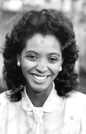 Newsreader Zeinab Badawi 1984.