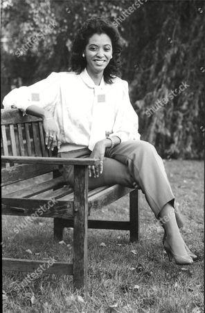 Newsreader Zeinab Badawi 1984