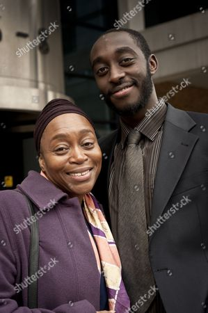 Stock Picture of Angela Wynter as Liam's mother and Ivanno Jeremiah as Liamk.