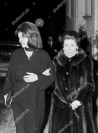 Stock Photo of Jacqueline Kennedy with Greek socialite Niki Goulandris in Athens
