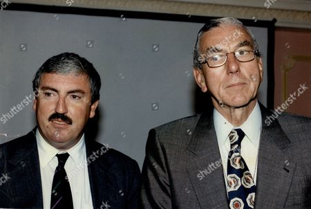 Richard Evans Chief Of British Aerospace And John Cahill Chairman Of Bae 1993.