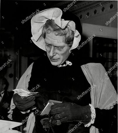 The Earl Of Harewood Dressed As A 19th Century English Governess Mistress Bentson When He Attended The Opera Ball At The Dorchester Hotel.