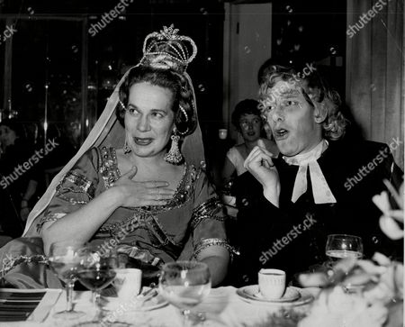 Earl Of Harewood (right) Dressed As A Governess At The Opera Ball.