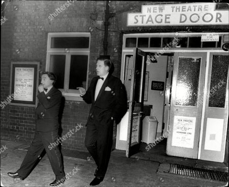 The Earl Of Harewood Leaves The New Theatre After Seeing The Play 'howard's End'.