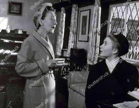 """Stock Photo of JULIET MILLS AND ESMA CANNON IN """"NURSE ON WHEELS"""" 1963 EDITORIAL USE ONLY"""
