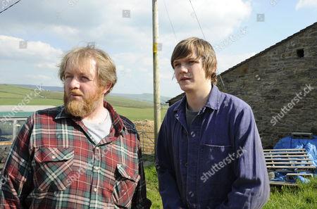 Local farmers Martin Heald [Roger Morlidge] and his son Rowan [Sam Darbyshire]
