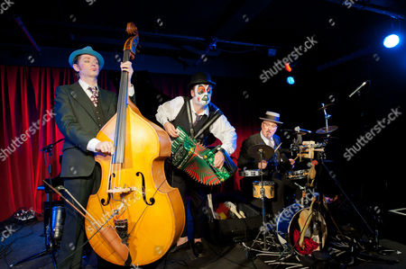 The Tiger Lillies in 'Soho Songs' at the Soho Theatre, London - Adrian Stout, Martyn Jacques and Adrian Huge.
