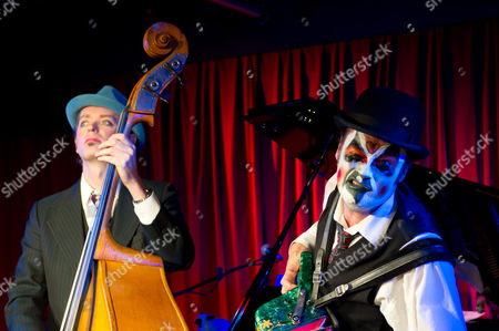 Stock Picture of The Tiger Lillies in 'Soho Songs' at the Soho Theatre, London - Adrian Stout and Martyn Jacques