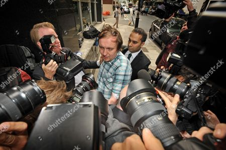 Editorial image of Jonathan May-Bowles aka Jonnie Marbles at Westminster Magistrates Court, London, Britain - 29 Jul 2011