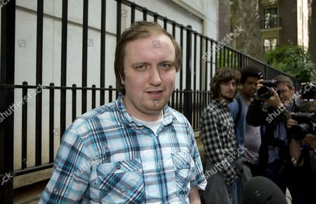 Editorial photo of Jonathan May-Bowles aka Jonnie Marbles at Westminster Magistrates Court, London, Britain - 29 Jul 2011