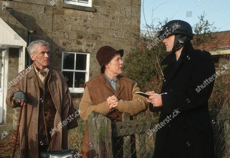 John Breslin as Mr Potter, Joyce Kennedy as Mrs Potter and Nick Berry as PC Nick Rowan