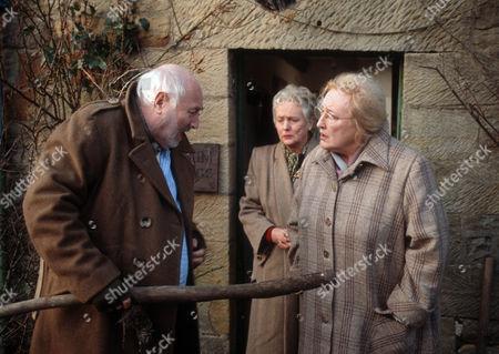 Bill Maynard as Claude Jeremiah Greengrass, Judith David as Frances Kirby and Elizabeth Spriggs as Rene Kirby