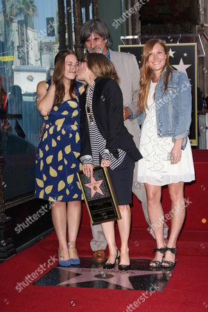 Sissy Spacek with daughters Madison and Schuyler Fisk and husband Jack Fisk