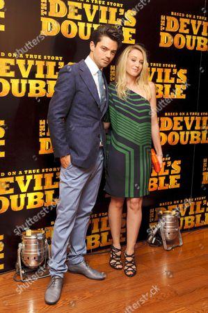 Stock Photo of Dominic Cooper and Latif Yahia