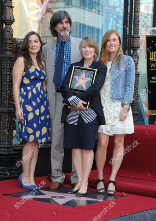 Sissy Spacek with husband Jack Fisk and daughters Madison and Schuyler