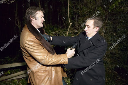 Gang member Jim Bly [Andrew Whipp] and Younger [Steven Blakeley]