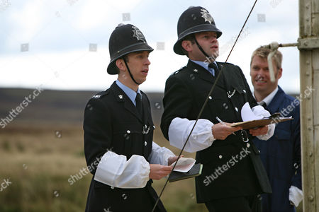 PC Geoff Younger [Steven Blakeley], PC Don Wetherby [Rupert Ward-Lewis] and Alan [Stephen Beckett].