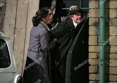 DS Rachel Dawson [Clare Wille], PC Geoff Younger [Steven Blakeley] and Brigstocke [Fred Ridgeway]