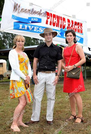 Lisa Kay [Carol], Joe McFadden [Mason] and Claire Willie [Rachel] at The Mooriloobah Picnic Races. .