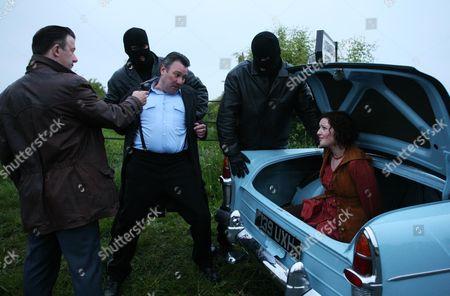 Travis (Jay Villiers), Sgt George Miller (John Duttine) and Cheryl Miller (Hester Ullyart)