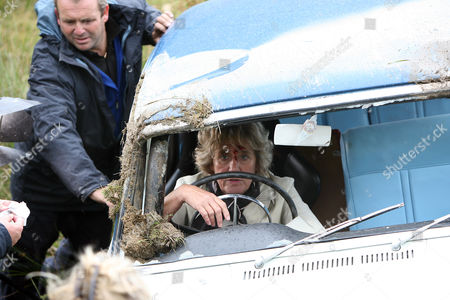 Stock Picture of Behind the scenes filming camera crew Frank Carter [David Fleeshman] who drives Evelyn off the road and terrorises her life.