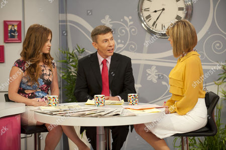 Martell Maxwell and Andrew Pierce with Kate Garraway